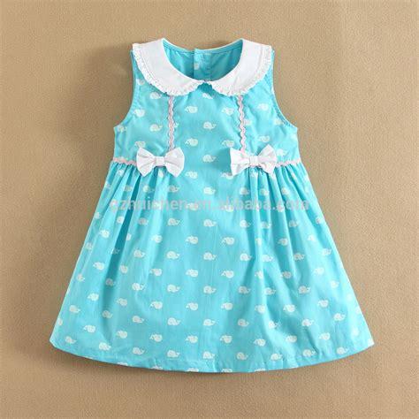 Momandbab Short Sleeve Baby Dress Cutting 100%cotton Woven