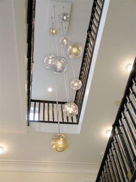 ideas  stairwell chandelier