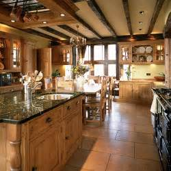 country style kitchen ideas country kitchen with wooden units and beams housetohome