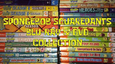 Spongebob Blu-ray & Dvd Collection Updated 2017!