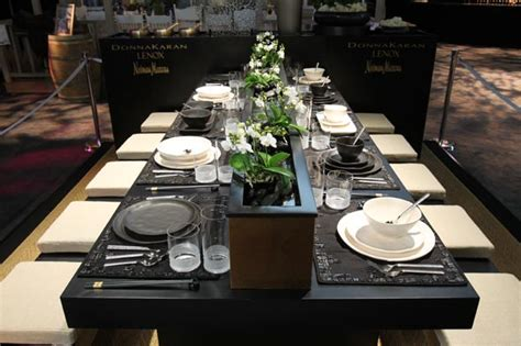 black and white dinner table setting shelterpop