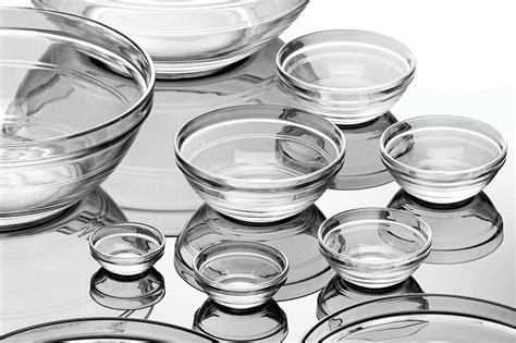 duralex lys nesting glass bowl set  piece cutlery