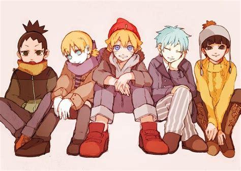 Shikadai, Inojin, Boruto, Mitsuki, And Metal Lee