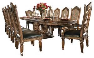 Dining Room Sets For 8 8 Villa Valencia Dining Room Table Set With China Dining Sets By Warehouse