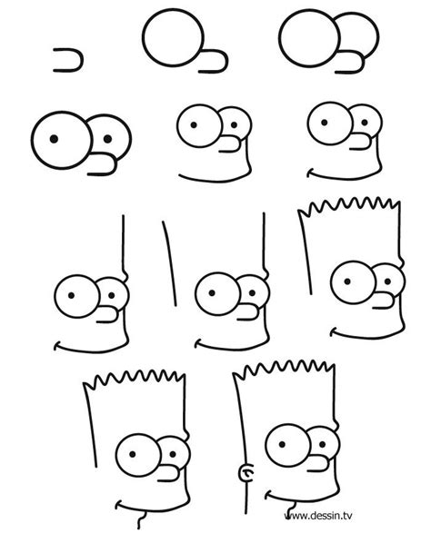 dessin facile bart