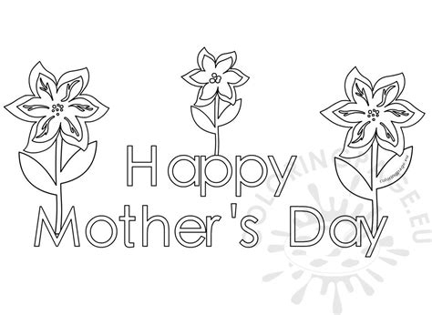 happy mothers day coloring pages  kids coloring page