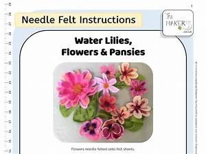 Water Lilies  Flowers  U0026 Pansies Instructions Pdf