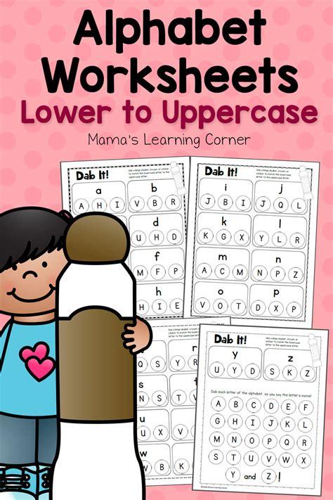 dab  alphabet worksheets match   uppercase