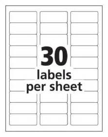 Blank Label Templates 30 Per Sheet 900 Maco Ml 3000 Blank Large Address Labels 30 Per Sheet Avery 5160 Ebay