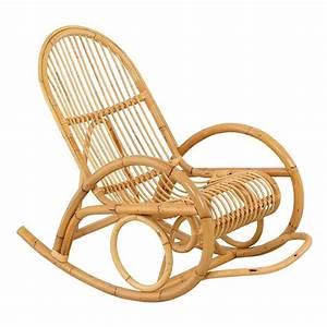 Chaise à Bascule Pas Cher : rocking chair madih pour adulte en rotin achat vente fauteuil rotin cdiscount ~ Teatrodelosmanantiales.com Idées de Décoration