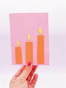 Kerzen Selber Machen Aus Alten Kerzen : geburtstagskarte basteln aus moosgummi ~ Orissabook.com Haus und Dekorationen
