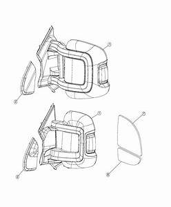 Ram Promaster Mirror  Outside Rearview  Left   96 Extended