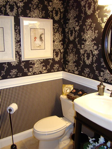 bathroom wallpaper ideas clever ideas for beautiful minimalist half bathroom decohoms Half
