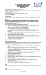 occupational therapy assistant resume exle physical therapist assistants resume sales therapist lewesmr