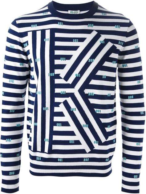 and white striped sweater kenzo k striped sweater where to buy how to wear