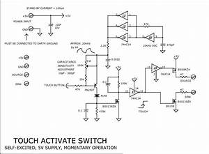 Touch Switch Circuit For Applications Include Computer
