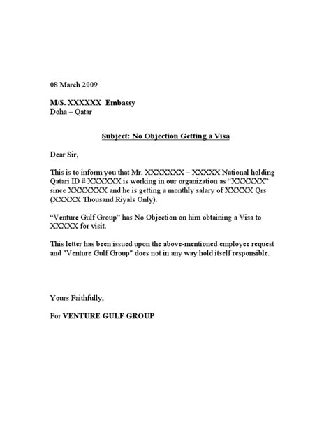 No Objection Letter Sample From Father No Objection Certif