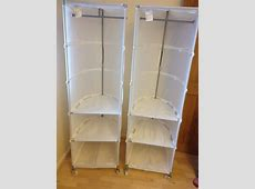 IKEA Swivel Canvas Wardrobes with Shelves £7 each in