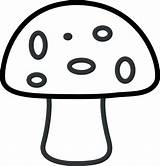 Mushroom Coloring Spots Printable Template Six Clip Features sketch template