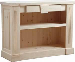 étagère Bois Brut : commode d 39 autrefois 1 tag re en bois brut ~ Melissatoandfro.com Idées de Décoration