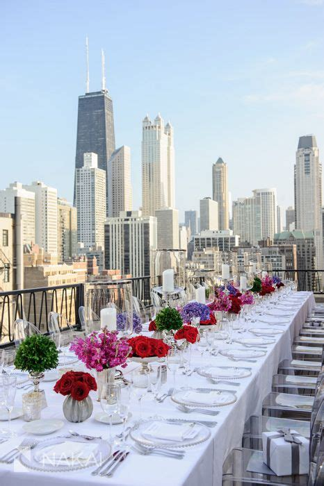 perfect rooftop rehearsal dinner  chicago luxury