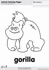 Gorilla Coloring Simple Super Pages Animal Learning Worksheets Room Flashcards Colouring Animals Resource Songs Supersimple Supersimplelearning Flashcard Zoo Kindergarten Wag sketch template