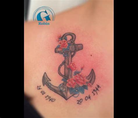 tatouage boussole ancre marine tattoo art