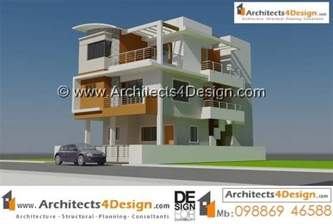 G+2 Home Design : 20x30 Elevations Designs Sample 20x30 House Elevations For