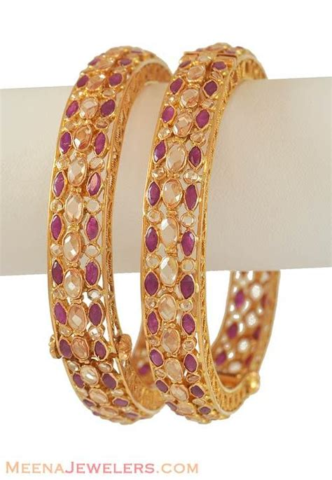 22k gold ruby bangle baan6389 bangles gt bangles