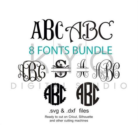 fonts bundle svg cut files digital font svg monogram font