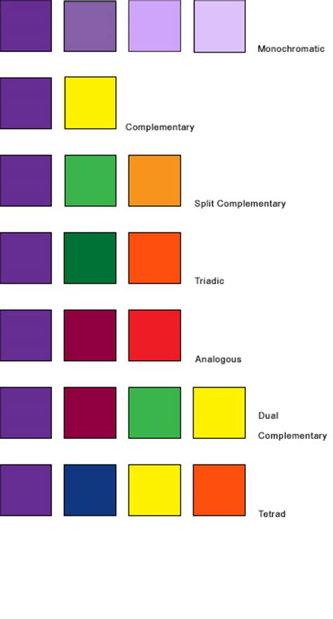 colors that go well with purple color palettes