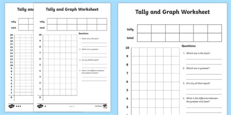 tally  graph worksheet worksheet template tally