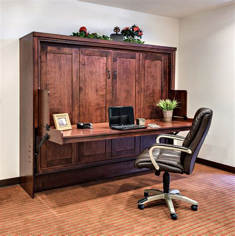 wall bed with desk hide away desk bed wilding wallbeds