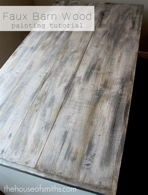 faux barn wood painting diy tutorial house of smith s