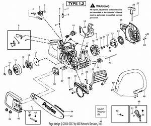 Poulan P3416 Gas Saw Type 2 Parts Diagram For Handle