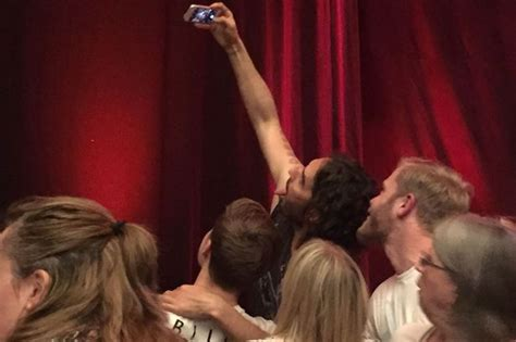russell brand bristol russell brand did something unusual during the interval of