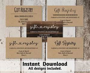 printable wedding registry card template 2560447 weddbook With free wedding registry card template