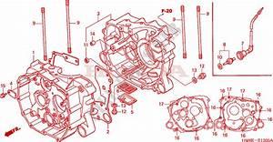 Crankcase For Honda Fourtrax 250 Recon Electric Shift 2005