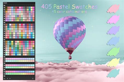 Pastel Colors Swatches By Faerydesign