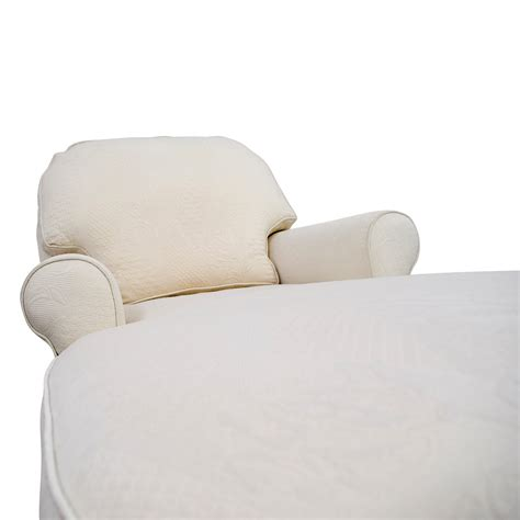 ethan allen sofa with chaise 85 off ethan allen ethan allen victoria white chaise
