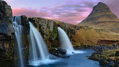 Kirkjufell Mountain Waterfalls Iceland Wallpapers Hd