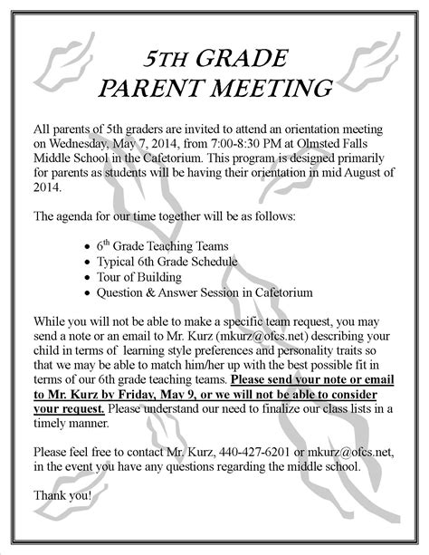 parent update    olmsted falls schools blog
