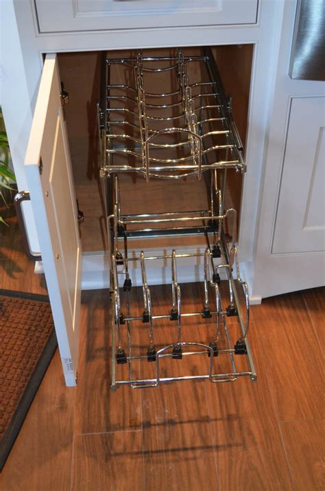 pots and pans rack cabinet design innovations we like 4 kitchen renovation ideas