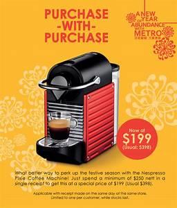 Machine Nespresso Promo : metro purchase with purchase 199 nespresso pixie ~ Dode.kayakingforconservation.com Idées de Décoration