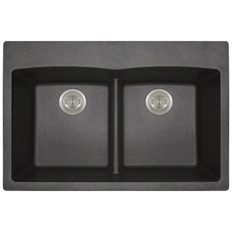mr direct kitchen sinks reviews mr direct drop in granite composite 33 in 5 equal 7049