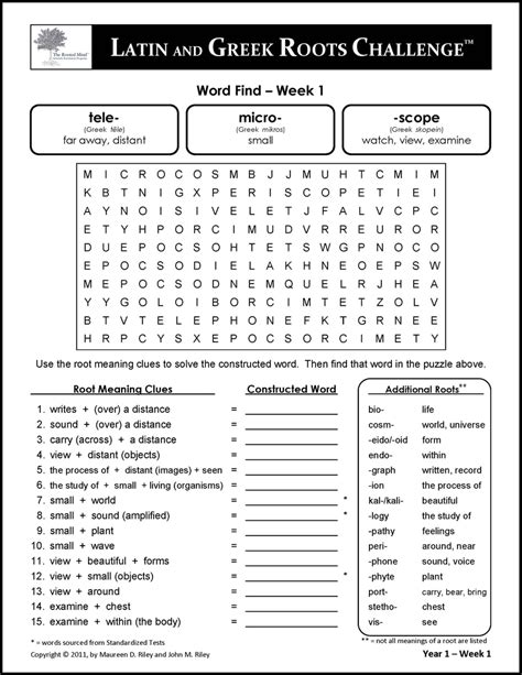 Greek And Latin Root Words Worksheets Resultinfos