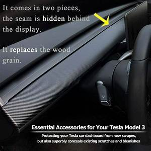 For Tesla Model 3 Central Control Dashboard Carbon Fiber Style ABS Panel Trim | eBay