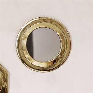 Miroir Rond Laiton : petit miroir en laiton rond dor tine k home le joli shop ~ Teatrodelosmanantiales.com Idées de Décoration