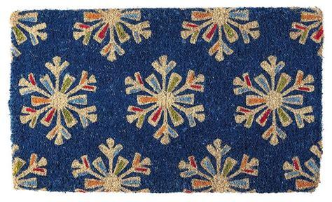 snowflake doormat snowflakes coir doormat asian doormats by
