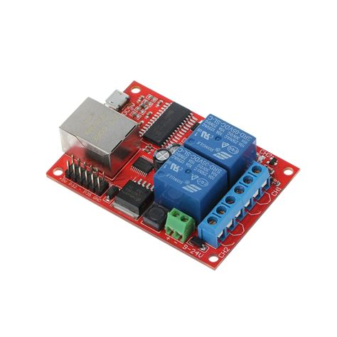 1PC LAN Ethernet 2 Way Relay Board Delay Switch TCP/UDP